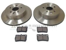 REAR VENTED 2 BRAKE DISCS AND PADS SET NEW FOR LEXUS GS450H GS460 2005-2011
