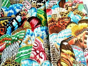 Rare FQ NATURAL WORLD BUTTERFLY WINGS  Nature Snow Leopard Philip Cotton Fabric
