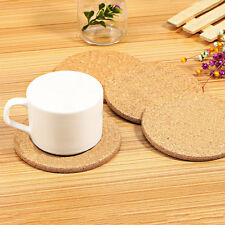 6 × Cork Wood Drink Coaster Tea Coffee Cup Mat Table Decor Bottle Pad Tableware