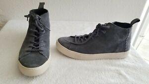 Toms Lenox Suede Mid Sneaker, Gray High Tops Men's Size 8
