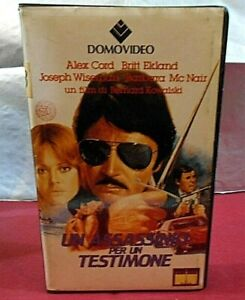 UN ASSASSINIO PER UN TESTIMONE - Stiletto ( ALEX CORD - 1969 )# VHS - DOMOVIDEO#