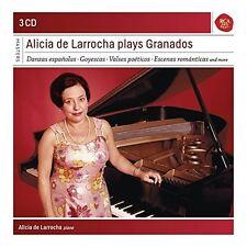 ALICIA DE LARROCHA - ALICIA DE LARROCHA PLAYS ENRIQUE GRANADOS  3 CD NEUF