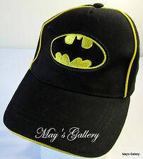 Batman Bat Man  Baseball Cap Hat  Base ball Adjustable NWT Velcro back