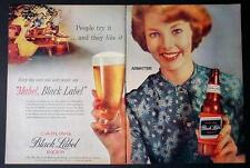 1958 Carling Mabel Black Label Beer 20X14 Ad Brewing Company Awesome Bar Art!