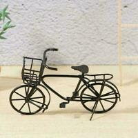 Dolls House Miniature Black Metal Bicycle-Bike Garden Scale Decor home 1:12 E6A3
