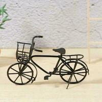 Dolls House Miniature Black Metal Bicycle-Bike Garden Scale Decor home 1:12 E6A3