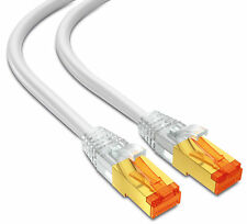 mumbi 15m CAT.7 Rohkabel S/FTP Ethernet Lan Patch Netzwerk Kabel weiss
