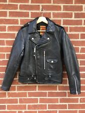 Schott Horsehide Perfecto Black Leather Jacket 1928H Motocycle 75th 36 D pocket