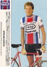 CYCLISME carte cycliste JACQUES MICHAUD équipe COOP HONVED ROSSIN 1984