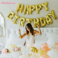 16'' HAPPY BIRTHDAY Banner Balloon Self Inflating Bunting Birthday Party Decor