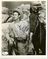 Jock Mahoney Hand Signed Jsa Coa 8x10 Photo Autographed Authentic