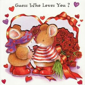 Lovely Hallmark Country Companions Mouse ~ Valentine's Day card