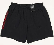 Men's GIORGIO EMPORIO ARMANI Black Swim Trunks Swimsuit Euro 50 NWT NEW WoW