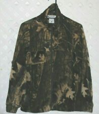 COLUMBIA YOUTH SIZE 14/16 BROWN FOREST CAMO FLEECE ZIPPER FRONT JACKET