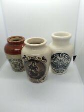 Three vintage printed pots c.1900