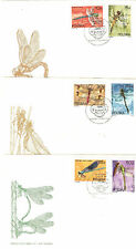 3 LETTRES TIMBRES POLOGNE THEME INSECTES LIBELULLES
