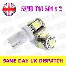 5 LED SMD T10 W5W 501 light Bulbs HID White x 2