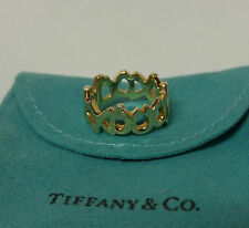 Tiffany Paloma Picasso Ring XO Wide Band 18k 750 Yellow Gold Oro Size 6 gold