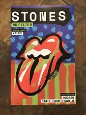 Rolling Stones 2019 No Filter Tour Limited Edition Poster