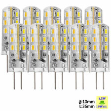 10X 1.5W lampadina 24 LED SMD G4 3014 DC 12V Luce Bianco Caldo Lampada SU020