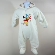 Disney Baby Boys Winnie The Pooh Cream Fleece Snowsuit Pramsuit Age 3-6 months
