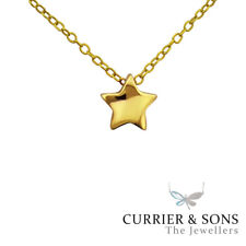 14ct Gold-Plated 925 Sterling Silver Star Pendant Necklace (45cm / 18 inch)