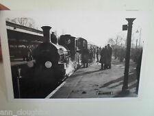 Vtg Real Photo PC Railway Station+Train Franked+Stamped Bishops Stortford 1963