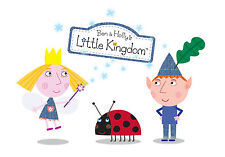 PERSONALISED BEN AND HOLLY LITTLE KINGDOM A4 LAMINATED POSTER