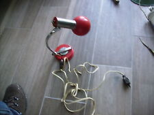 Lampe boule de bureau vintage 60/70 métal orange articulée