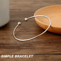 Pulsera brazalete de plata esterlina 925 perfecta para mujer, regalo de amor