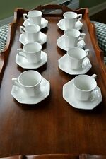 Johnson Brothers 8 Cups and Saucers Demitasse White