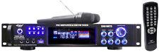 PWMA2003T 2000 Watts Hybrid Pre-Amplifier W/AM-FM Tuner/USB/Dual Wireless Mic
