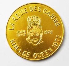 1972 La Reine Des South LaFourche Cajun Festival Kim Lee Queen Medal 39mm