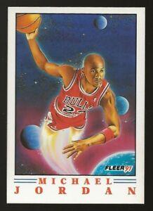1991-92 Fleer Michael Jordan Pro Vision Card #2 Chicago Bulls HOF