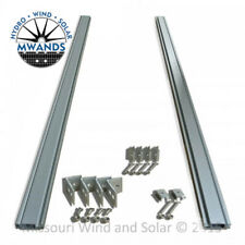 Solar Panel Mounting Rack 7 Foot Aluminum Rails & Hardware Solar Panel PV Use