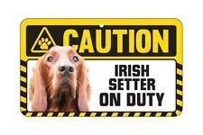 Dog Sign Caution Beware - Irish Setter