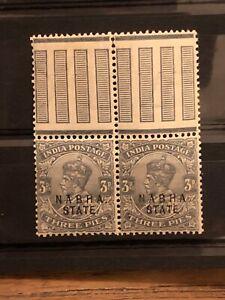 Stamp India Nabha State Mnh**