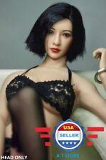 1/6 scale Asian Female Short Hair Head Sculpt for 12'' Figure Doll Suntan Phicen
