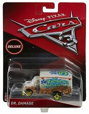 DISNEY PIXAR CARS 3 DR DAMAGE AMBULANCE DELUXE 2017 IMPERFECT PACKAGE