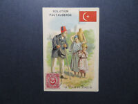 Turkey Stamp on Pautauberge Advert Card Circa 1900 - Z12539