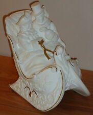 "Lenox china VICTORIAN CHRISTMAS COUPLE SLEIGH RIDE Musical Figurine 6""H 1991"