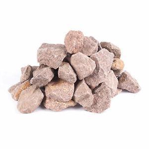 (1,07€/1kg) Saunasteine norwegisch Granit ca. 20-40mm rot 13Kg alle Öfen