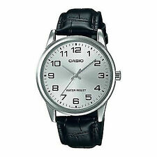 Casio Men's Mtpv001l-7b Black Leather Japanese Quartz Fashion Watch