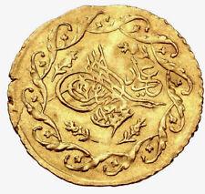 Ottoman Turkey Mahmud II. AH 1223-1255 / AD 1808-1839. AV Cedid Mahmudiye Altın