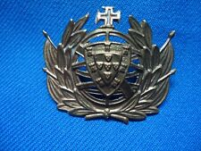 PORTUGAL PORTUGUESE MILITARY HAT CROWN FLAG QUINAS OLD BADGE 38mm
