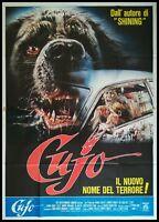 "CUJO 1981 Original Movie Poster 55x78"" 4Sh Italian STEPHEN KING HORROR"