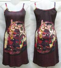 Gustav Klimt The Maiden ART Print Spaghetti Short Tank Dress Size M Medium D510