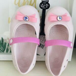 Crocs Toddler Girl Size 8 NWT PRINCESS CROCS MOST ADORABLE
