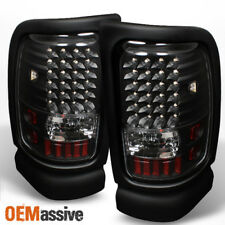Fits 94-01 Dodge Ram Pickup Black LED Tail Lights Lamps Left+Right