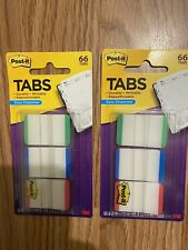 2 Packs Of Post It Tabs 3m 686l Gbr Green Blue Red Durable